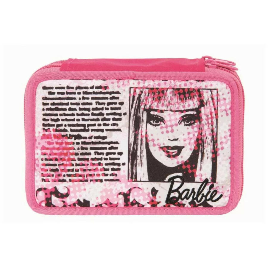 Astuccio Barbie 2 cerniere con penne e colori - TarghetBag 11-1908