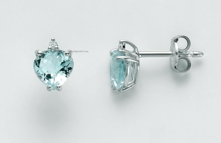 Erd2522 Orecchini Miluna con Acquamarina e Diamanti -