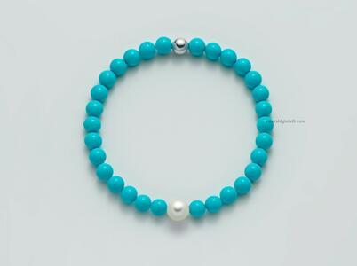 pbr3206 Bracciale Miluna color Turchese e Perla