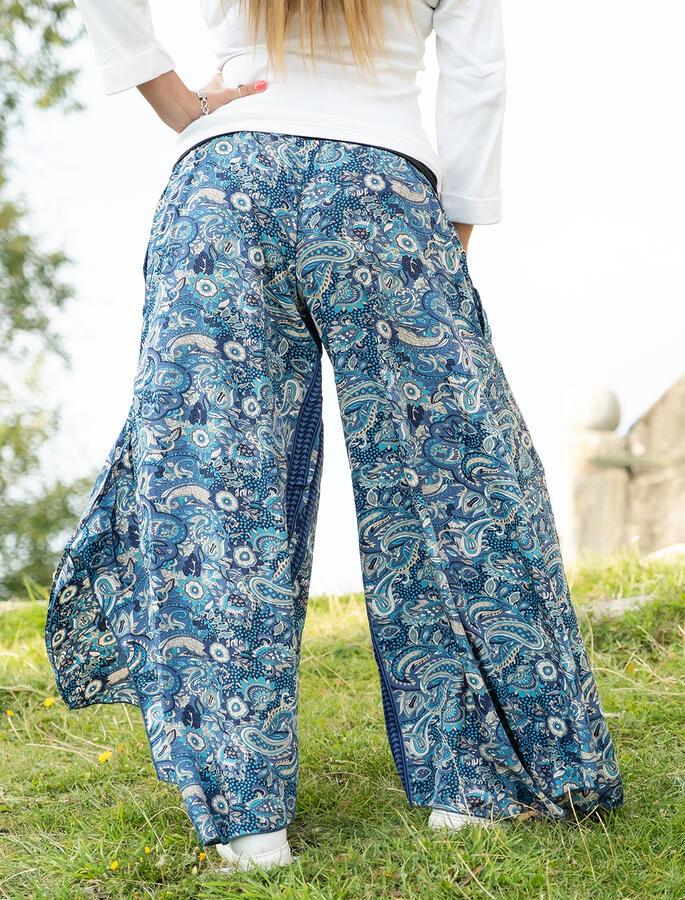Pantalone donna Keertana zampa d'elefante - blu celeste