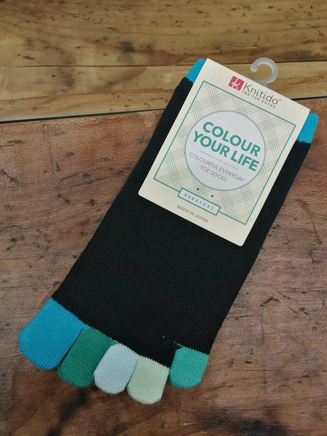 Calzini Knitido Rainbows Colourful Toe Socks, Ocean Five 161