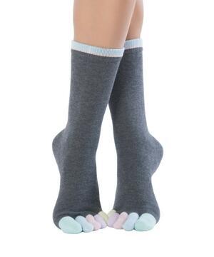 Calzini Knitido Rainbows Colourful Toe Socks, Cotton Candy 210