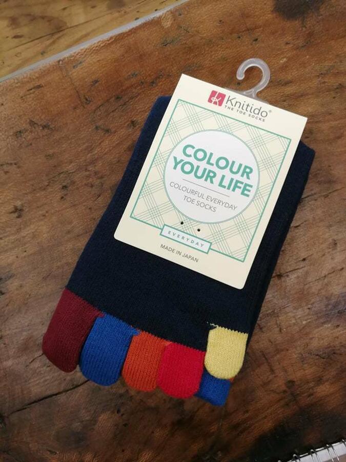 Calzini Knitido Rainbows Colourful Toe Socks, Jelly Bean Buddies 214