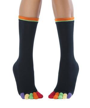 Calzini Knitido Rainbows Colourful Toe Socks, Happy Toes 131