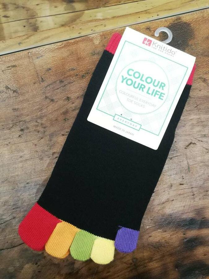 Calzini Knitido Rainbows Short toe socks, Happy Toes 131