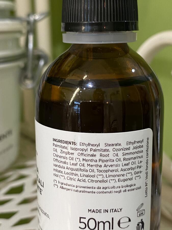 Miscela tonificante con oli essenziali bio