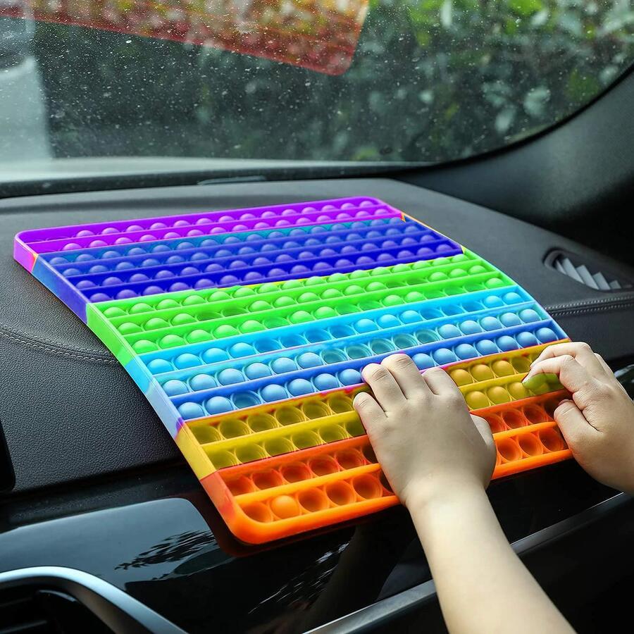 Pop It Gigante Fidget Toys Big Size Colorato Antistress Push Bubble Gioco bambini