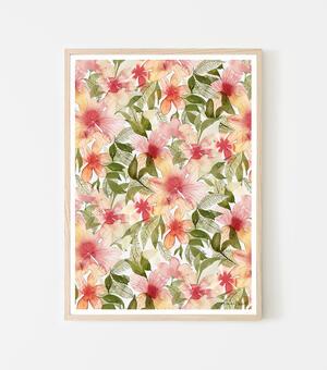 "Poster ""Flower pattern"" 21x29cm"