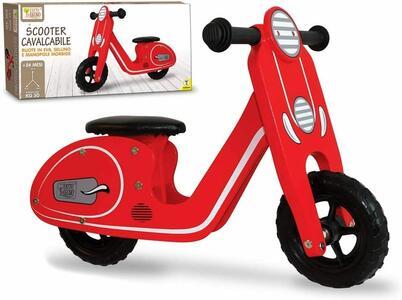 Scooter Cavalcabile in Legno senza pedali - Fatto di Legno 40595 - 24+ mesi
