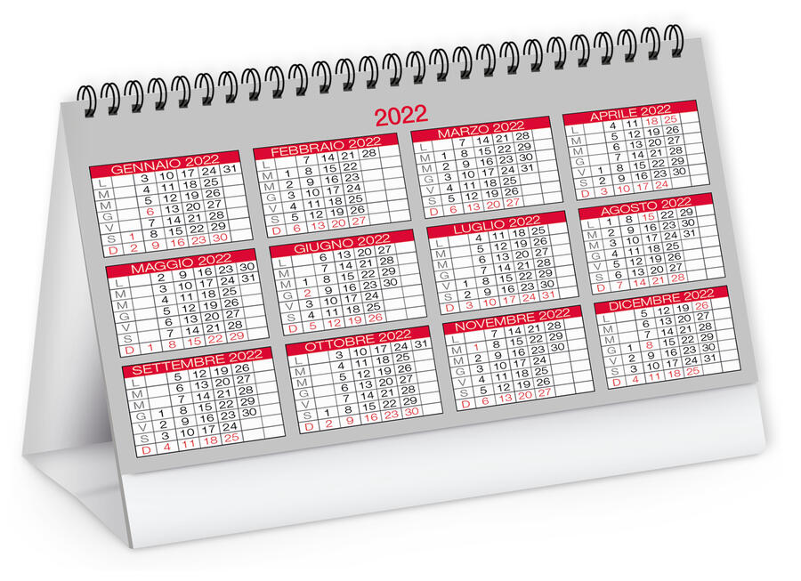 Calendario Tavolo MODERNO Personalizzato PA720