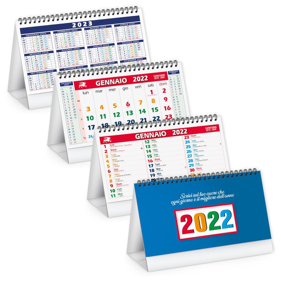 Calendario Tavolo MULTICOLOR Personalizzato PA705