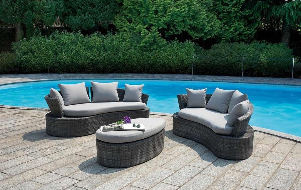 Set divanetto giardino senigallia 2 divani onda tavolino for Amazon cuscini arredo