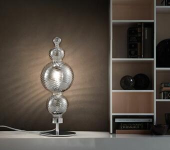 Lampada da Tavolo SAN MARCO in Vetro Soffiato e Metallo Cromato di Evi Style, Varie Finiture - Offerta di Mondo Luce 24