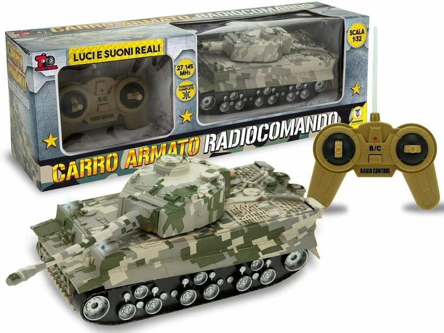 Carro armato Radiocomandato Scala 1:32 - T.Controll 66260 - 3+