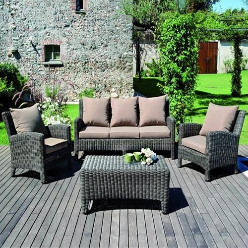 Set divanetto giardino porto rotondo divano 2 poltrone for Arredo rattan