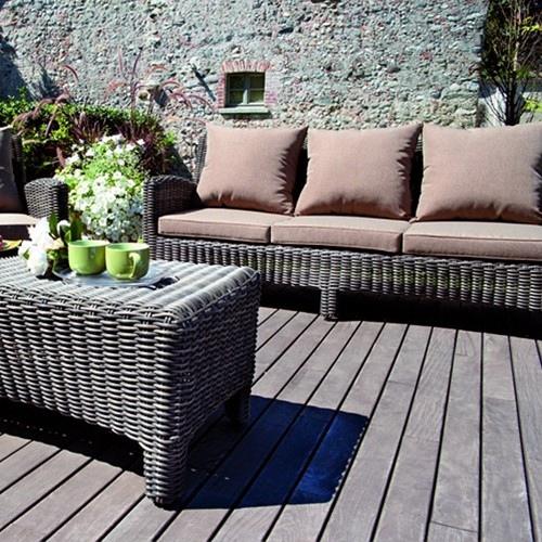 Set Divanetto giardino Porto Rotondo divano + 2 poltrone + tavolino ...