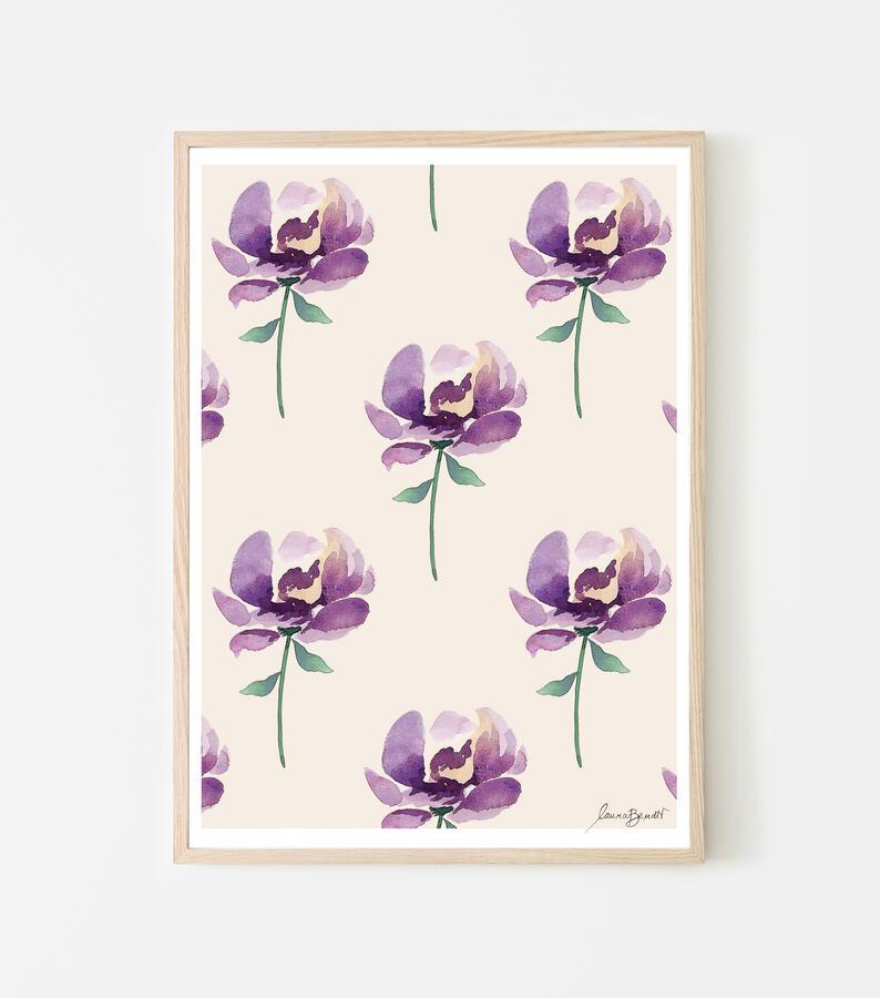 "Poster ""violette"" 21x29cm"