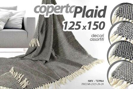 Coperta Plaid Letto Divano Telo Coperte 125x150 cm Decori Assortiti Arredo Casa
