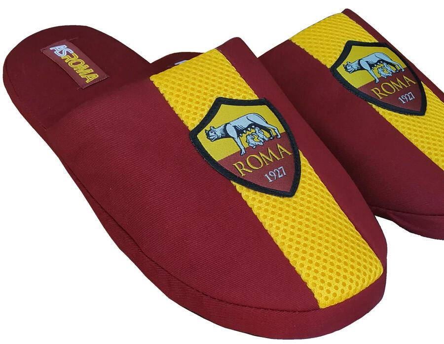 Pantofole Ciabatte as Roma 1927 Prodotto Ufficiale Rosso Bordeaux