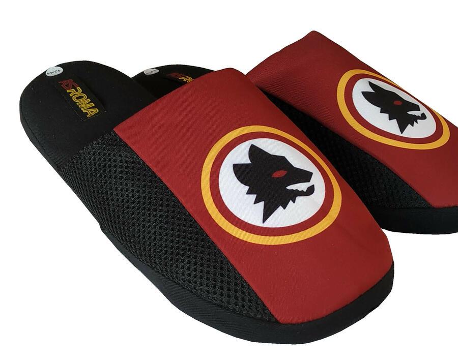 Pantofole Ciabatte as Roma 1927 Lupetto Logo Storico Prodotto Ufficiale Rosso Bordeaux