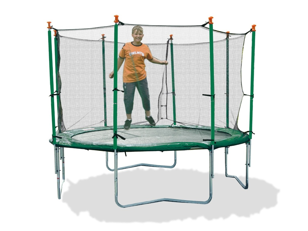 Tappeto elastico con rete protettiva per esterno mod. 400 Jump 41540