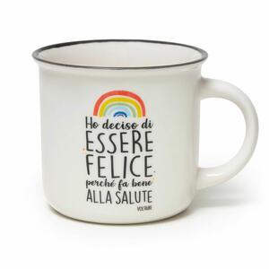 Cup-Puccino - Tazza in Porcellana - HO DECISO DI ESSERE FELICE