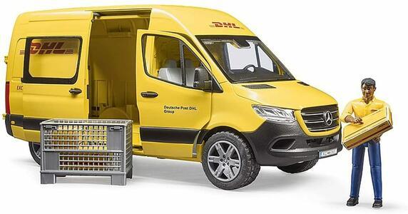 MB Sprinter DHL con scatola e pacchetti di spedizione - Bruder 02671 - 4+