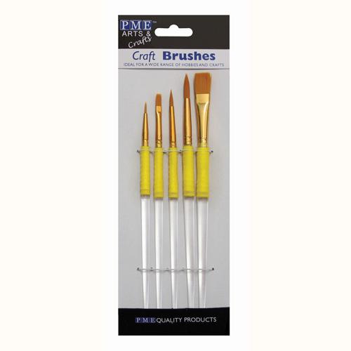 set 5 pennelli per decorare Pme