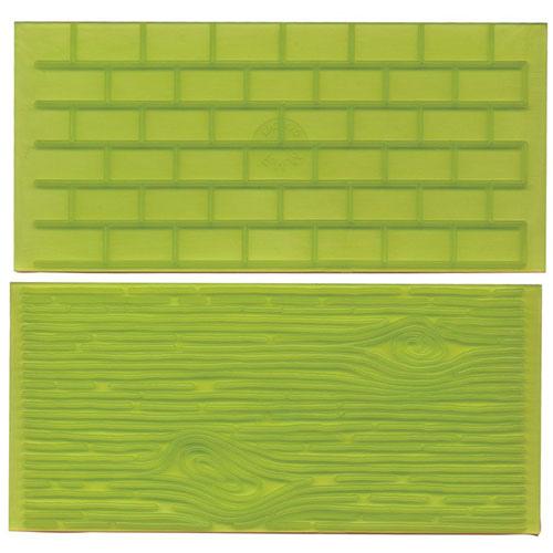 tappeto set mattoni e legno FMM