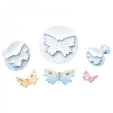 set 3 stampi espulsione farfalle linea Torte Design
