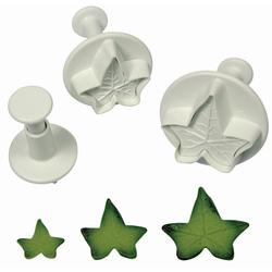 set 3 stampi espulsione foglia edera linea Torte Design