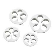 Set 4 pezzi cutter rose linea Torte Design