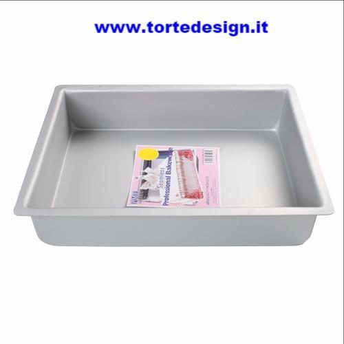teglia alluminio rettangolare cm 17,5 x 27,5