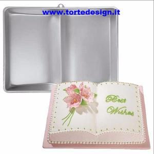 stampo alluminio libro aperto wilton