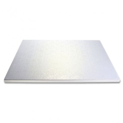 Vassoio quadrato  argentato rigido cm 40