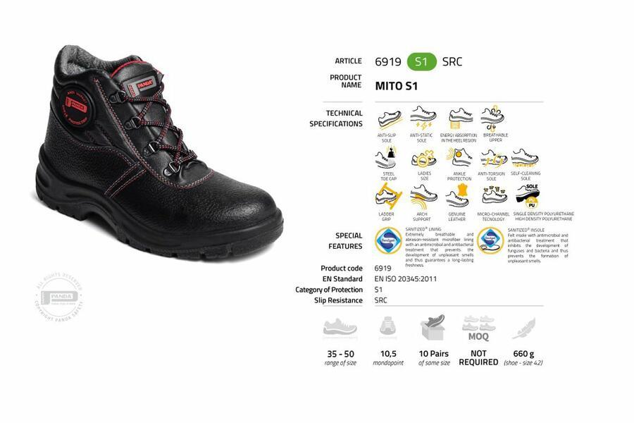 Scarpa da lavoro alta MITO S1 | 6919 S1 SRC Made in Italy