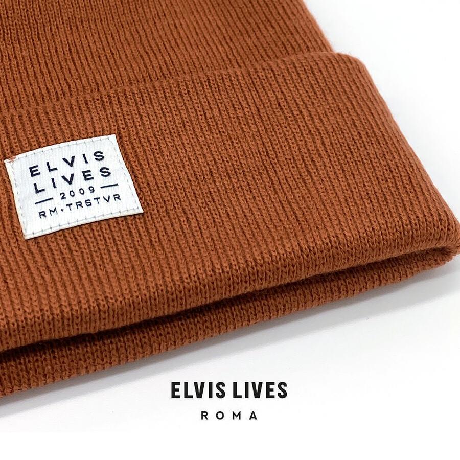 Elvis Lives Beanie - Orange Rust