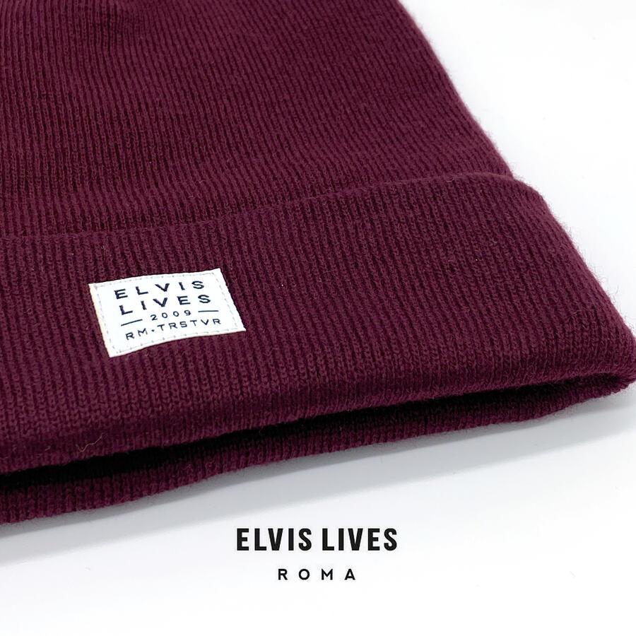 Elvis Lives Beanie - Burgundy