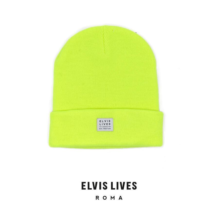 Elvis Lives Beanie - Fluo Yellow
