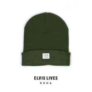 Elvis Lives Beanie - Mil Green