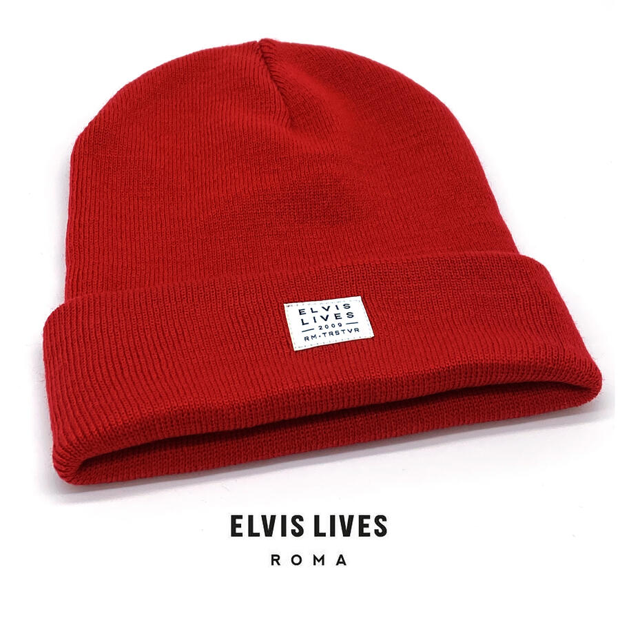 Elvis Lives Beanie - Red