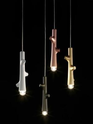 Lampada a Sospensione RAMETTO in Ceramica e Metallo di Morosini, Varie Misure e Finiture - Offerta di Mondo Luce 24