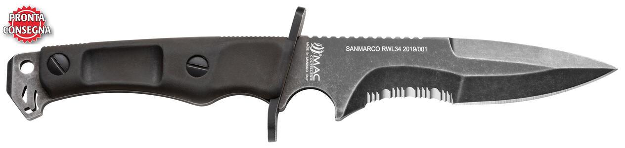 Coltello SANMARCO RWL34 BLACK WASHED di Mac Coltellerie - Offerta di Mondo Nautica 24
