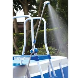 Doccia doccietta per scaletta piscina fuoriterra con ganci per tubo acqua bestway intex