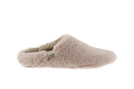 Victoria - Pantofole pelliccia Norte - Nude