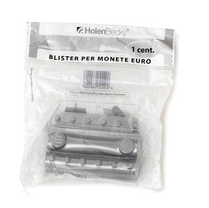 Blister 20 portamonete in PVC 1 centesimo trasparente