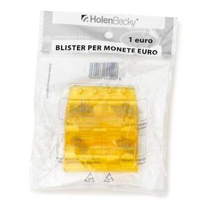 Blister 20 Portamonete in PVC 1 euro giallo