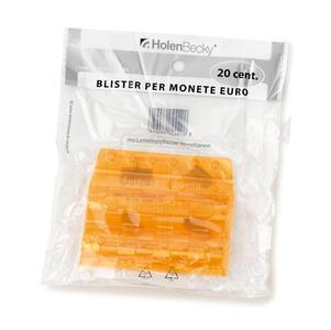 Blister 20 Portamonete in PVC 20 centesimi arancio