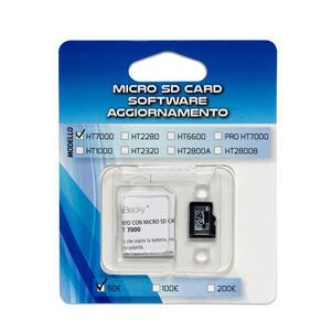 MICRO SD CARD aggiornamento 100/200 € verificabanconote HT2280