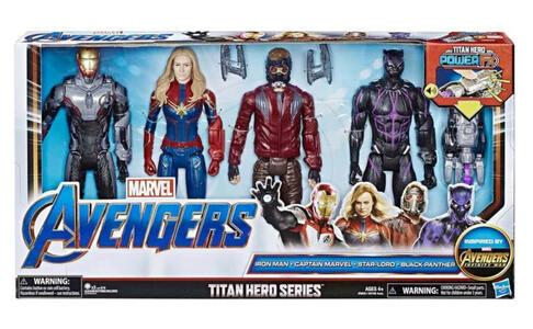 Iron Man - Capitan Marvel - Star-Lord - Black Panther  - Hasbro E6903 - 4+